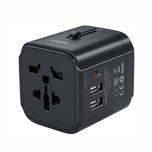 Universal Adapter with 3 Ports