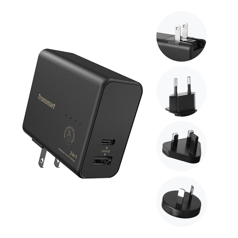 2 in 1 Portable Travel Charger 2W & 5000mAh