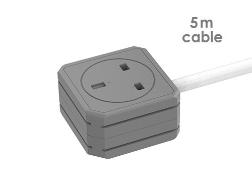 PowerExtension DUO 5M  2X PLUG cable UK